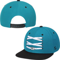 San Jose Sharks Zephyr Skate Lacer Adjustable Snapback Hat – Teal
