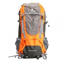 60L Waterproof Hiking Camping Travel Backpack Bag Orange,ship from US