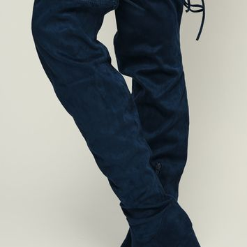 About That Thigh High Boots (Navy)