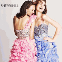 Sherri Hill 8423 Size 2 Green