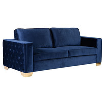 Armen Living Isola Sofa With Gold Metal Legs