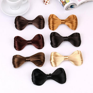 Hot Selling Brand New Big Bow Tie Wig Shape Hairpin Hair Clip Lady Girl's Exquisite Beautiful Elegant Hair Clip Hair Accessory