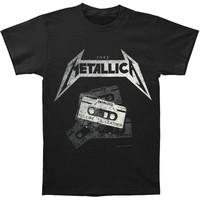 Metallica Men's  Demo Cassette T-shirt Black