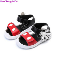 HaoChengJiaDe New Summer Baby Sandals Fashion Toddler Cartoon Mickey Shoes For Girls Boys Children Beach Sandals Girls Shoes 078