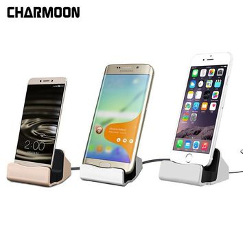 Universal 2 IN 1 Mobile Phone USB Charger Desktop Dock Stand Cradle Station For iPhone X 8 For Samsung S8 USB-C Charge