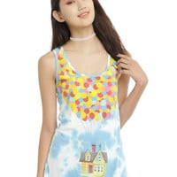 Disney Up Balloon House Tie Dye Girls Tank Top