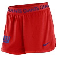 Women's New York Giants Nike Red Ultimate Mesh Shorts