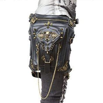 G1 Retro Steampunk Skull Waist Bag / Shoulder Bag
