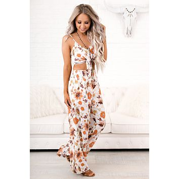 Once & Floral Two Piece Set (White/Multi)
