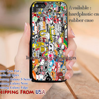 Sticker Bomb Artwork Superman Hello Kitty iPhone 6s 6 6s+ 5c 5s Cases Samsung Galaxy s5 s6 Edge+ NOTE 5 4 3 #cartoon #superman #superheroes dl10