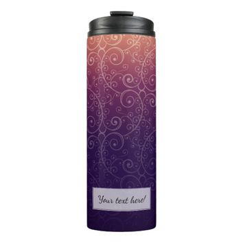 Party | Chic Bohemian Floral Swirls & Curls Thermal Tumbler
