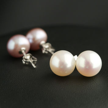 Hot Sale 925 Silver Earring Pearls Simple Design Korean Accessory Earrings [4914882436]