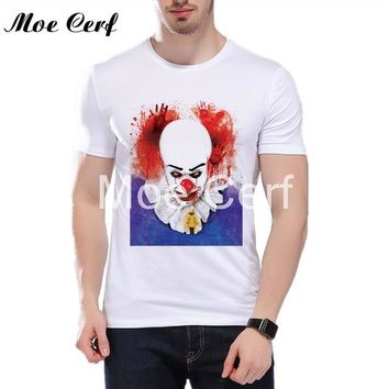Anime T-Shirt cosplay Hot Movies Pennywise T-shirt Men T Shirt Anime Funny It Clown 3D Print T Shirt Halloween Art Casual Tops Tee Couple shirt L5-103 AT_57_4