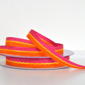 "1 yard 3/8"" grosgrain ribbon,bi-colored ribbon,embellishment,home decor,gift wrapping,card making,hair bows,scrapbooking,home decor.crafts."