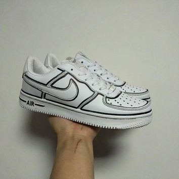 Nike Air Force 1 Unisex Casual Fashion Comics Hand Painted Low Help Plate Shoes Couple Sneakers-1