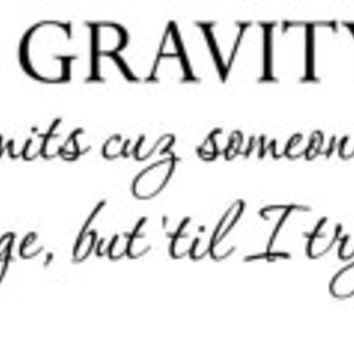 Wicked - Wall Decal - elphaba - defy gravity