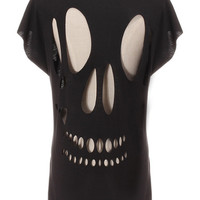 'The Lata' Cut-Out Skull Back Tee