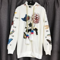 GUCCI Garden Print Fashion Hooded Sweatshirt