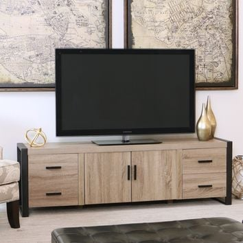 Modern Driftwood Black Urban Blend TV Stand