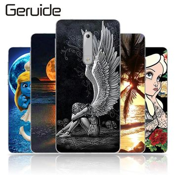Geruide Painting For Nokia 5 Case Cover For Nokia Silicone Cover Soft TPU Coque For Nokia 5 Cover 5.2 inches Mobile Phone Bag