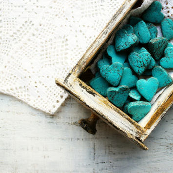7 clrs rustic wedding favors heart magnets cottage chic guest favors shabby chic bridal shower turquoise brown