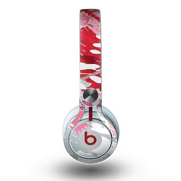 The Abstract Red, Pink and White Paint Splatter Skin for the Beats by Dre Mixr Headphones