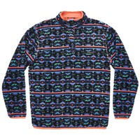 Youth Dorado Fleece Pullover in Midnight Gray and Teal by Southern Marsh