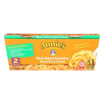 Annie's Homegrown Macaroni & Cheese Real Aged Cheddar - 2 Pack
