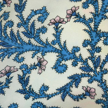 Liberty of London All Silk Print Scarf w/ Pink Thistles