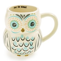 Natural Life 'Love the Moment' Ceramic Owl Mug