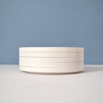 Five Heller Massimo Vignelli White Melamine by MidModMomStore