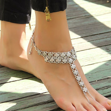 Cute New Arrival Sexy Shiny Stylish Ladies Gift Jewelry Accessory Vintage Style Metal Anklet [6042868993]