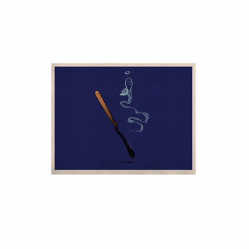"BarmalisiRTB ""Matches"" Blue Fantasy KESS Naturals Canvas (Frame not Included)"