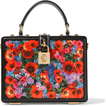 Dolce & Gabbana - Dolce printed lizard-effect leather shoulder bag
