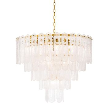 Frosted Glass Chandelier | Eichholtz Riveria