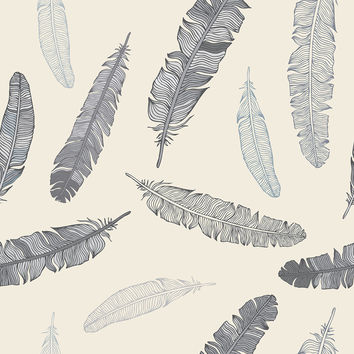 Goose Feathers Removable Wallpaper