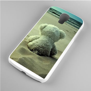 Little Teddy Bear in Beach Samsung Galaxy S4 Case