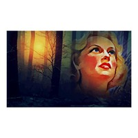 Lady Of The Forest Abstract Art Poster