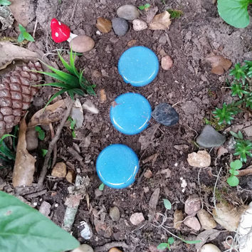 Fairy Garden Accessories, Fairy Garden Stepping Stones, Glow Garden Stones, Fairy Stones, OOAK Fairy Stepping Stones, Fairy Garden Lights