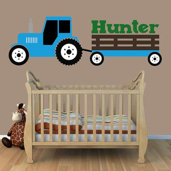 Tractor Wall Decal | Ford Inspired Wall Decal | Boys Bedroom Decal | Tractor Room Decor |  Boys Bedroom Decor |  Farm Decor | Country
