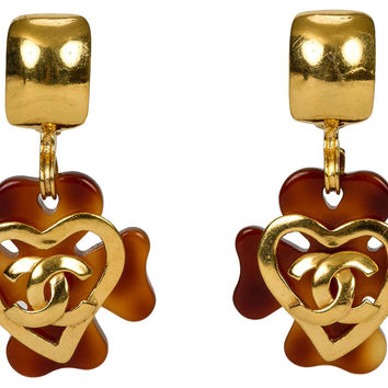 Chanel Faux-Tortoiseshell     Earrings