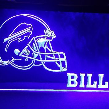 B-206 Buffalo Bills NEW Helmet beer bar pub club 3d signs LED Neon Light Sign home decor crafts