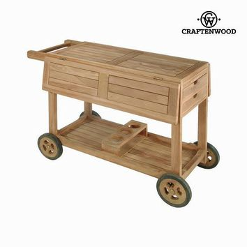 Teak wood drinks trolley by Craften Wood