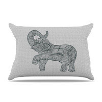 "Belinda Gillies ""Elephant"" Pillow Case"
