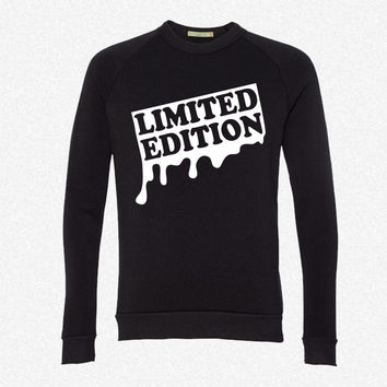 limited edition graffiti g1 fleece crewneck sweatshirt