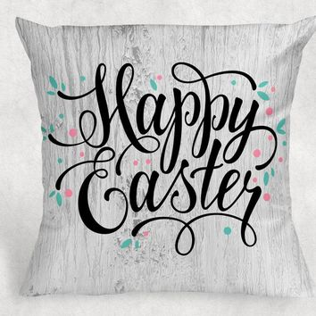 Easter Pillow - Housewarming Gift - Throw Pillow - Farmhouse Decor - Anniversary Gift - Personalized Pillow - Rustic Throw Pillow Cover