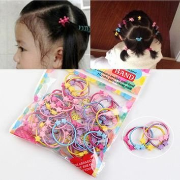 ESBONJ 1Pack Little Girl Hair Accessories Cute Candy Colors Elastic Hair Rubber Band High Quality Kid Ponytail Holder Headband Ties Gum