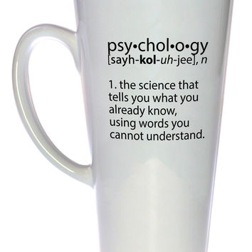Psychology Definition Coffee or Tea Mug, Latte Size