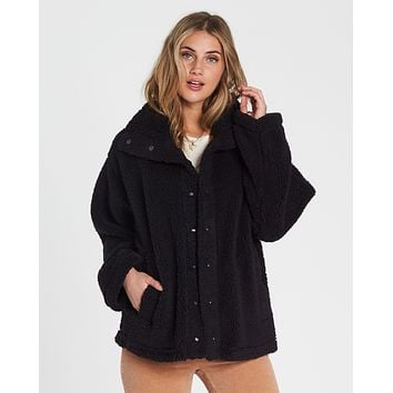 Billabong Women's Cozy Days Oversized Sherpa Jacket