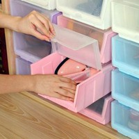 Injection Special Color Combination Shoe box Thick Clamshell/Storage Box Home Organize